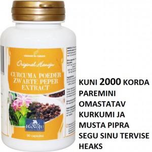 KURKUM + MUST PIPAR - KUNI 2000 KORDA VÕIMSAM. Hind alates 8,40 €